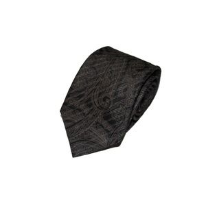 CANALI brown paisley striped tie 3.5x60